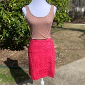 🎈NEW LIST! Ann Taylor Hot Pink Floral Lace Skirt